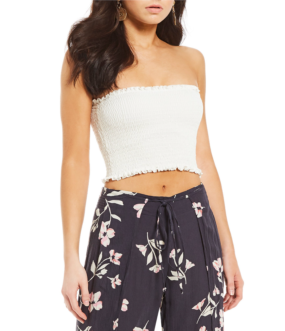 Smoked tube top and floral pants