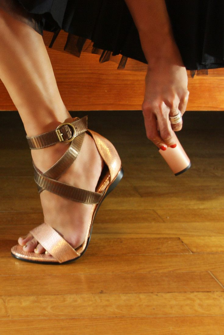 Gold accent fashionable interchangeable heels sandals