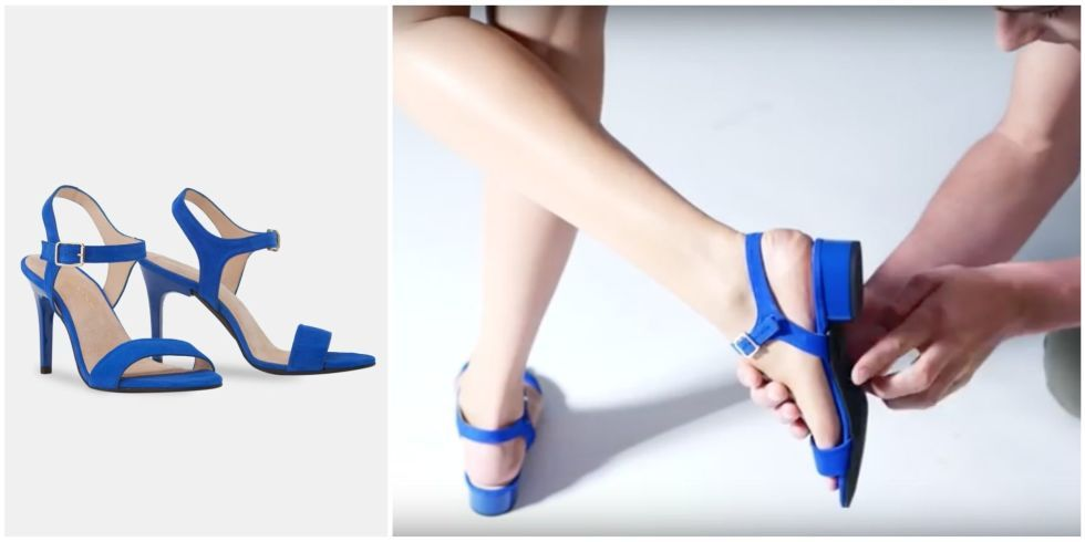 Blue interchangeable heels for your busy day