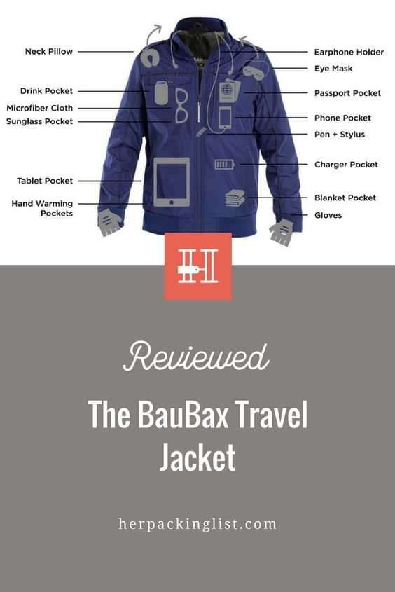 review baubex multi-function travel jacket
