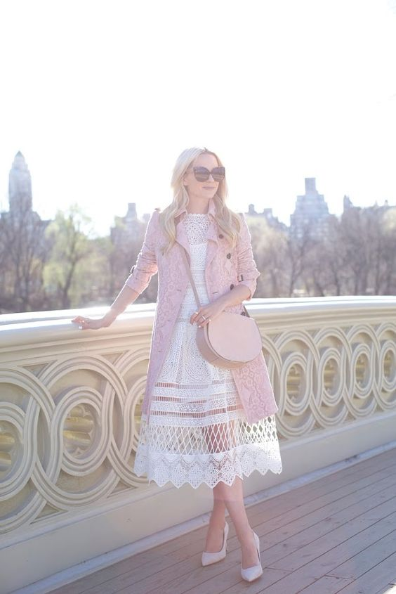 blush pink outfits for spring