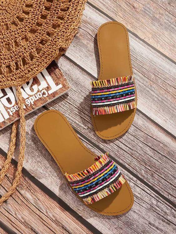 boho slippers for summer footwear