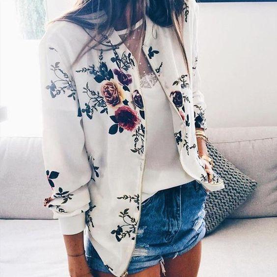 floral bomber jacket for spring