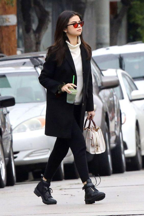Selena Gomez classy in black