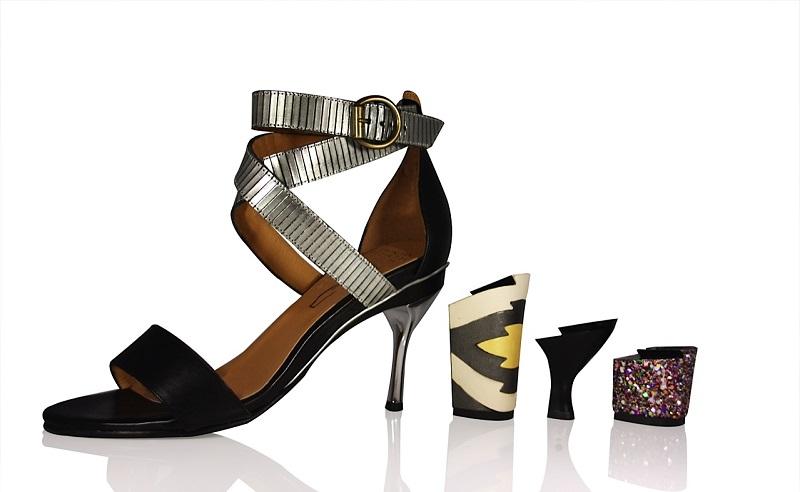 innovative women's footwear interchangeable heels sandal