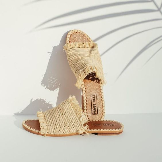 woven summer slippers go back to nature