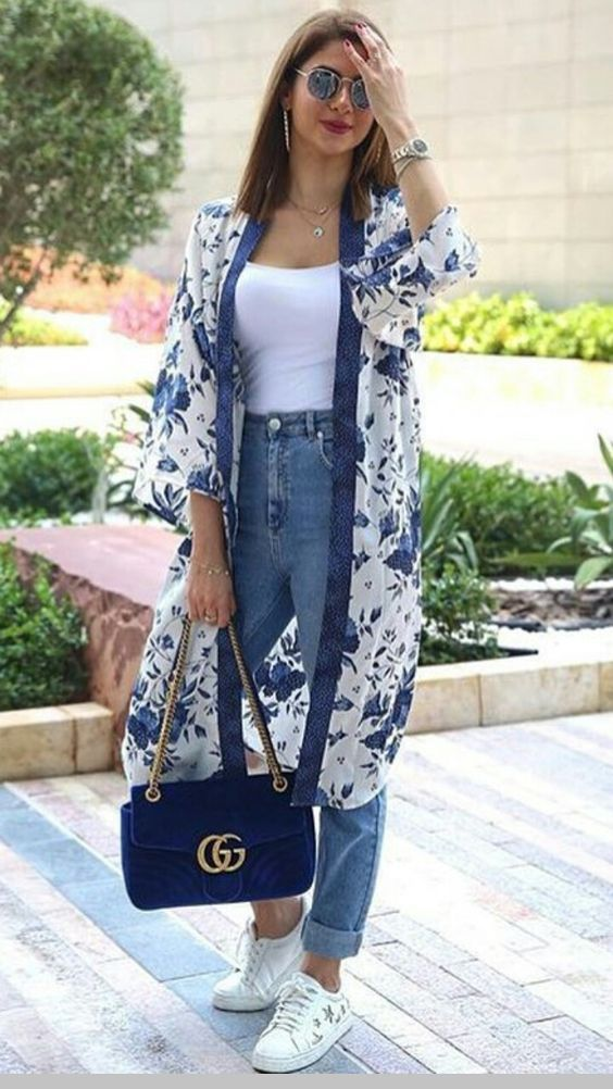 floral kimono to style your summer look