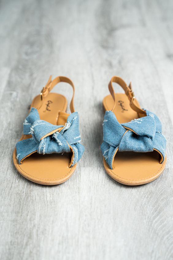 knotted sling back sandals for summer