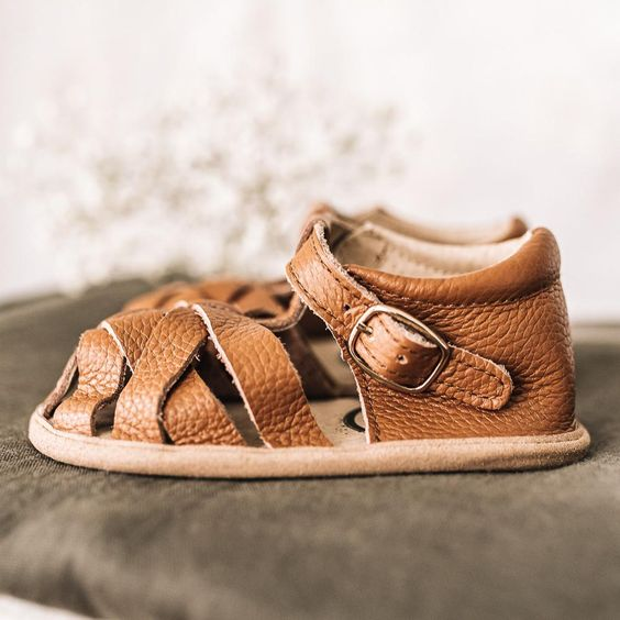 Leather moccasin sandals for toddler boys footwear