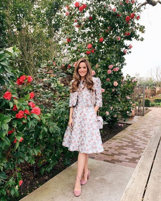 floral dress and jacket for summer