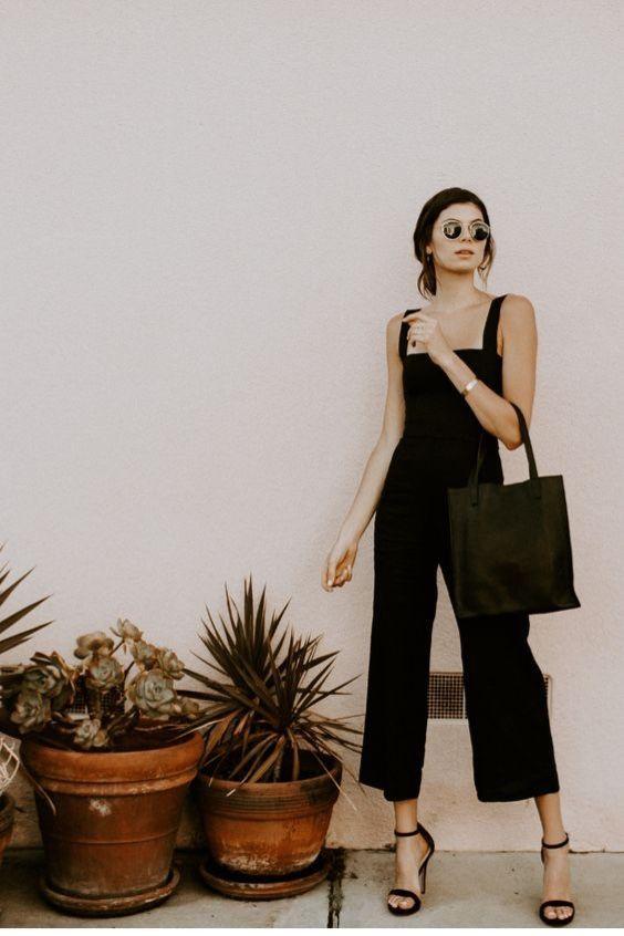 elegant minimalist in black for summer