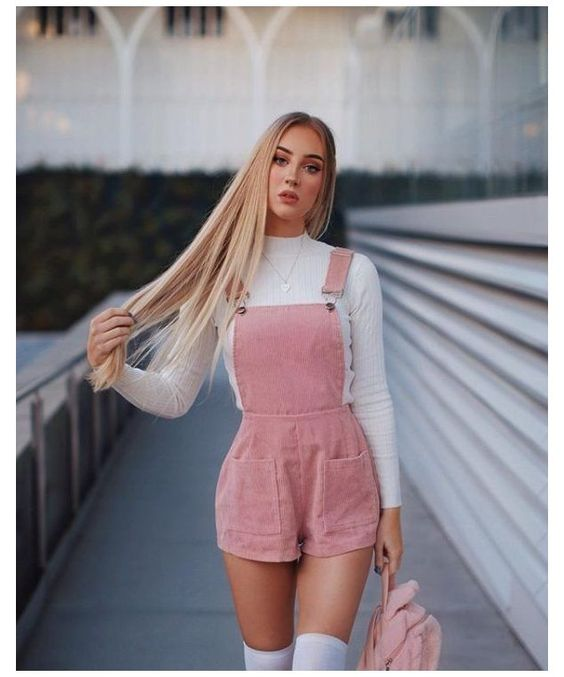pink pastel outfits for spring