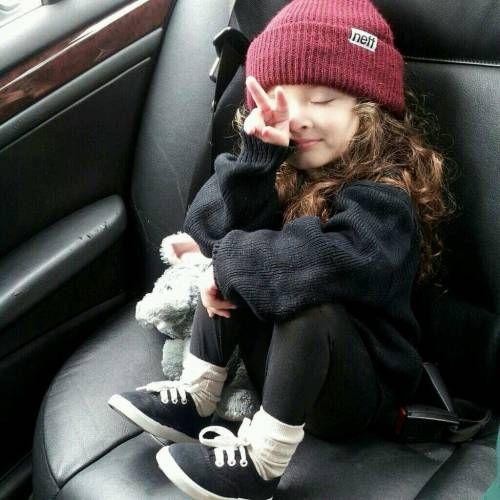 sporty street style little girl