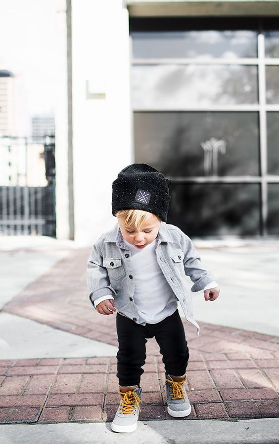 chick street style toddler boy