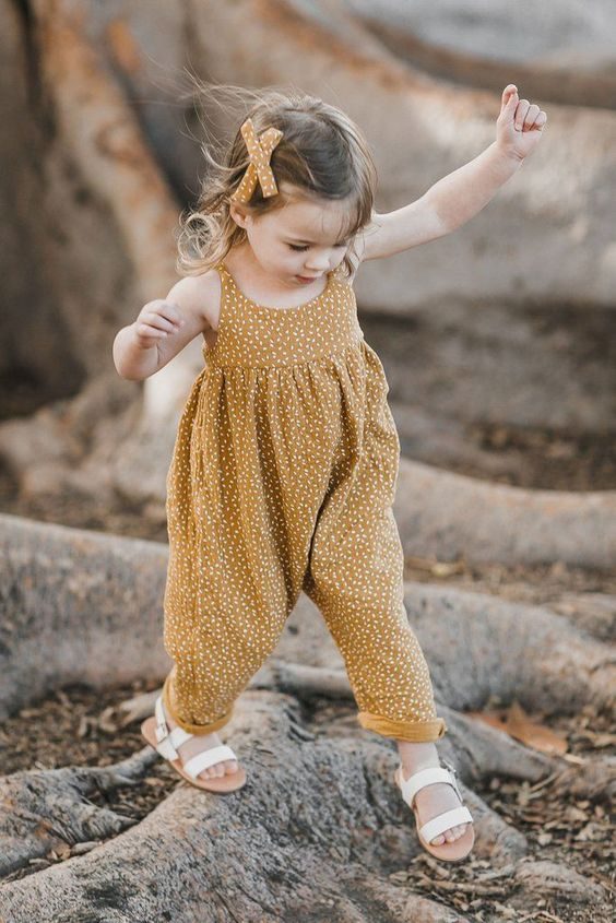 baggy jumpsuit for a little girl