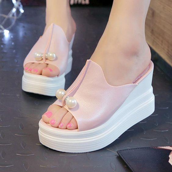 wedge heel sandals for women's summer footwear