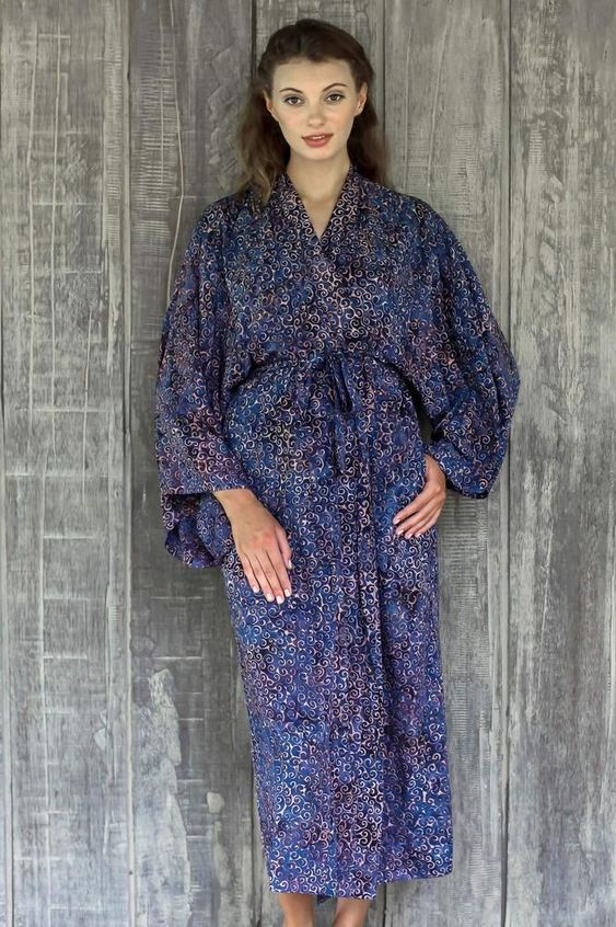 Balinese rayon robe tropical outfit ideas