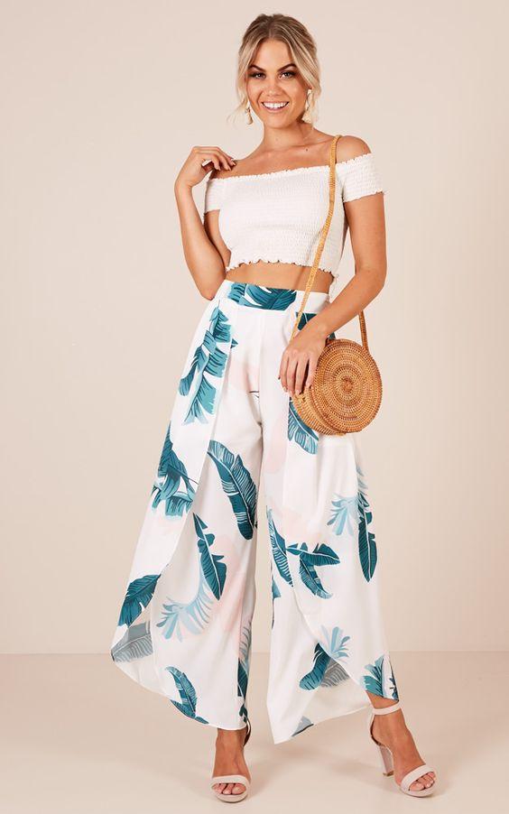 casual tropical pants