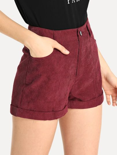 corduroy shorts for a trendy summer outfits