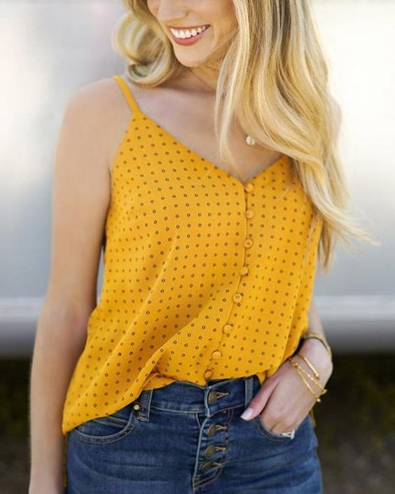 dressy cami for spring outfit ideas