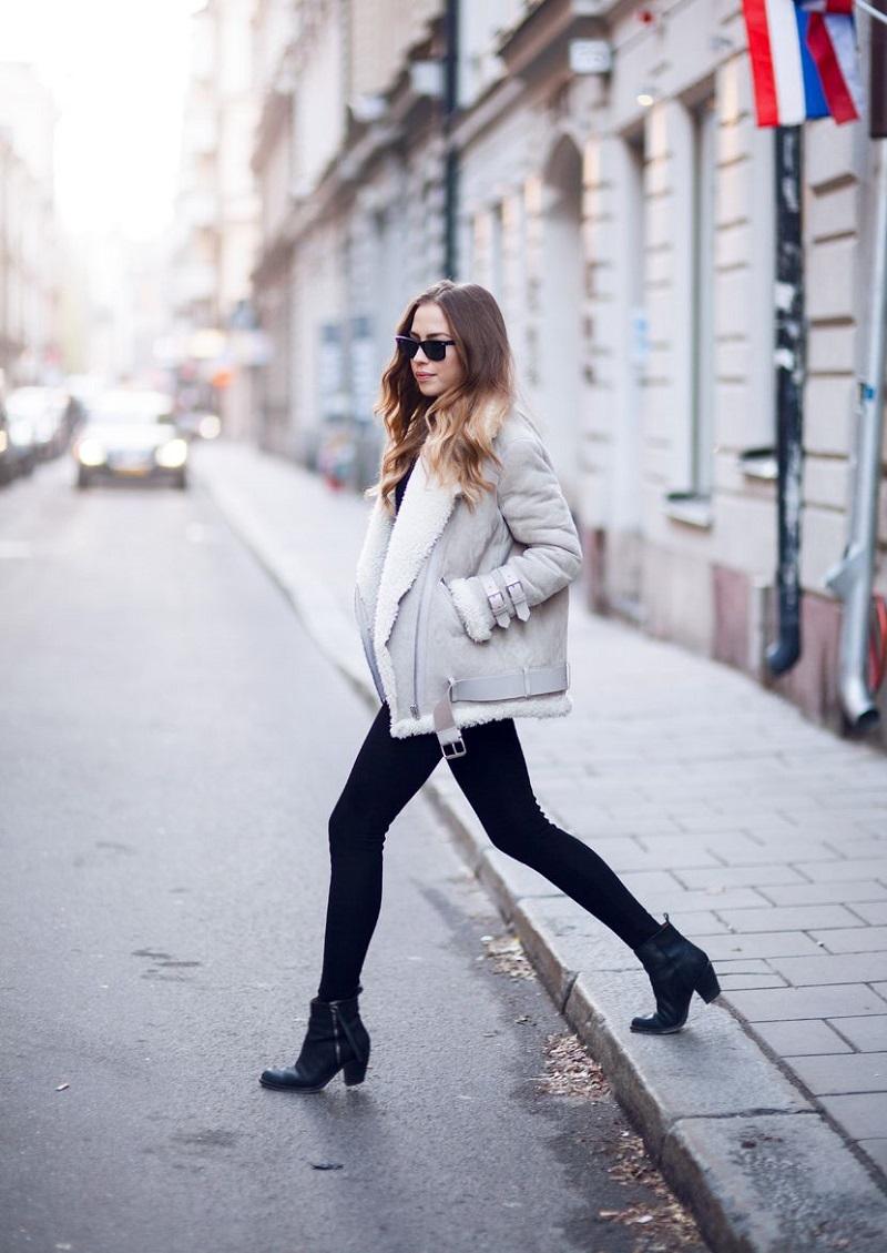 fashionable lightweight fleece jacket for ladies