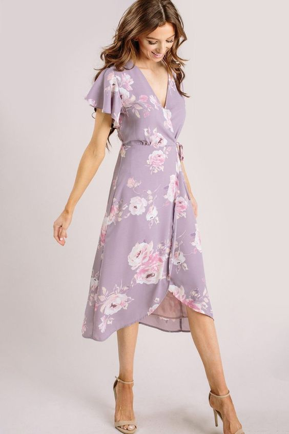 floral midi dress for spring vacation