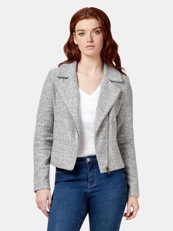 open collar fleece jacket