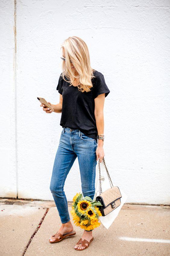 short sleeve black tee wardrobe basic