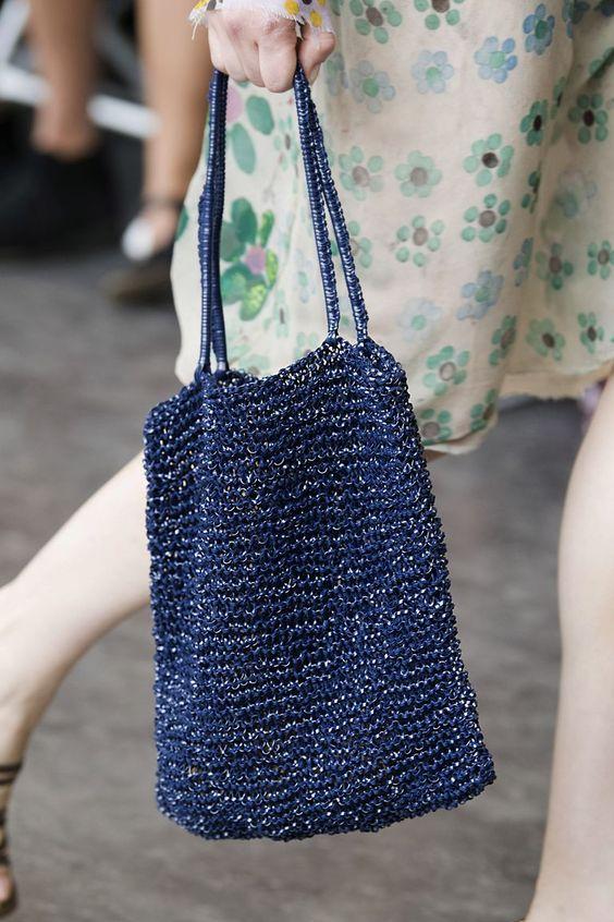 navy tote bag for spring