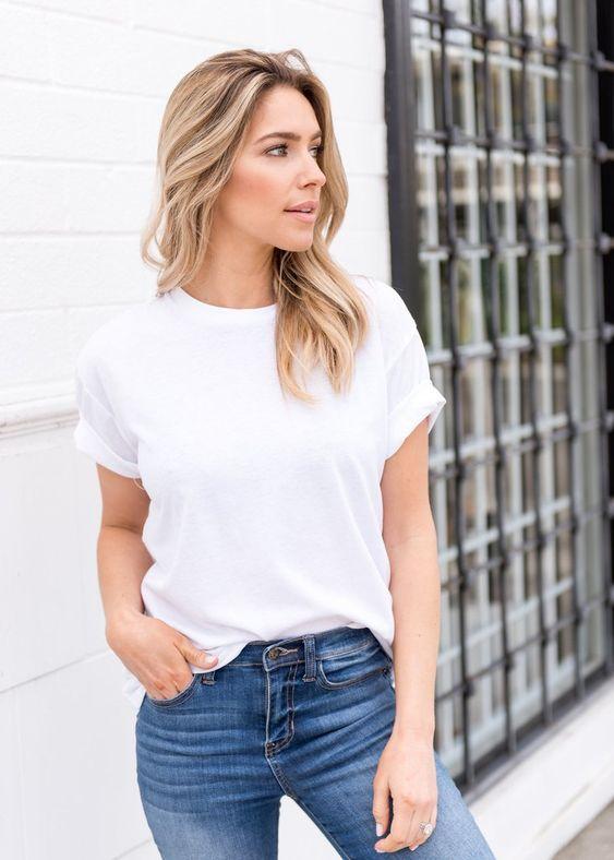 white tee for a wardrobe basic checklist