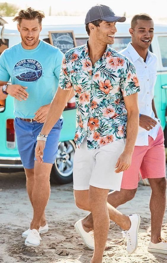 beach holiday outfit idea for men