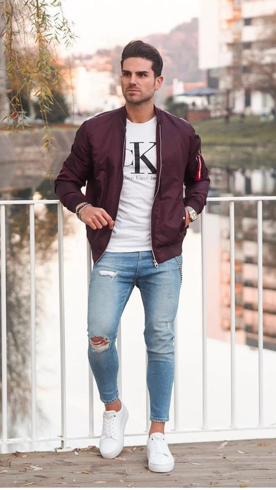 styling bomber jacket to create a cool casual look