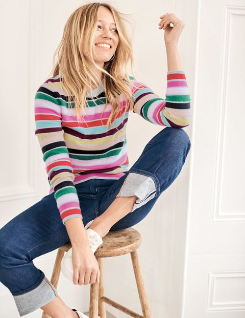cashmere crew-neck sweater for spring