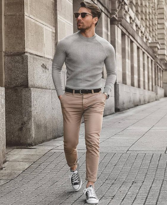 chinos to style a casual look