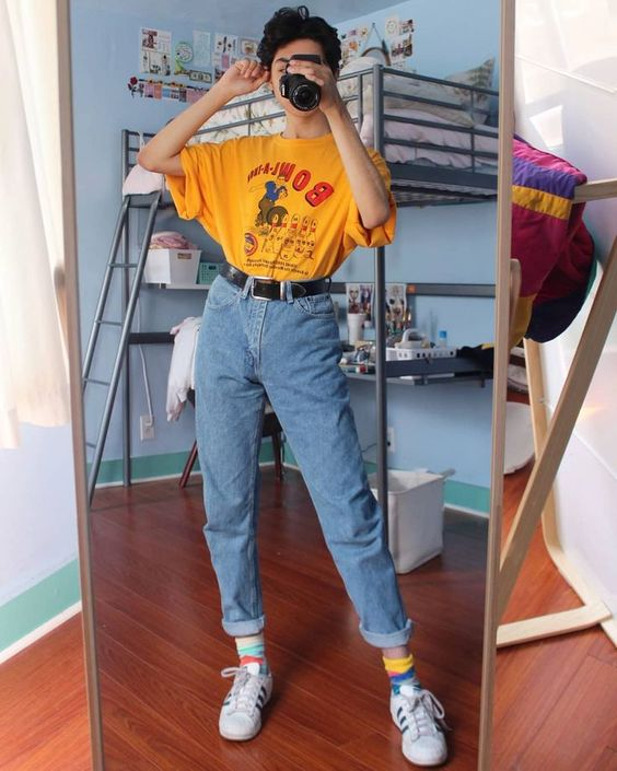 colorful school fashion outfit look