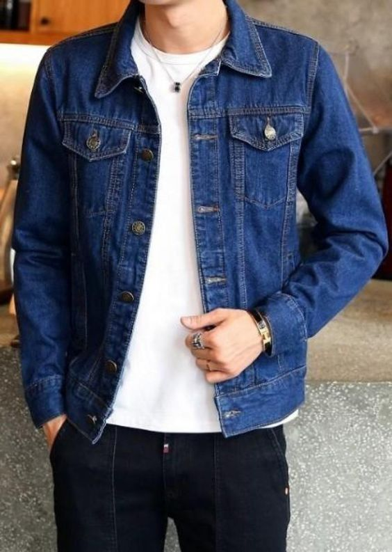 denim jacket and casual tee