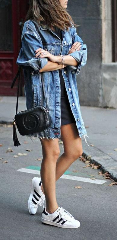 OOTD spring outfit with denim jacket