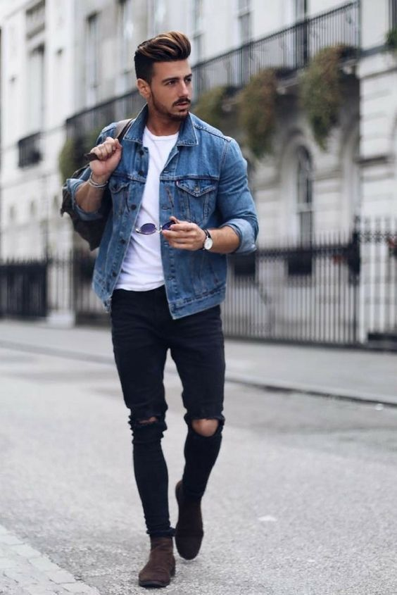 denim jeans for casual men outfit