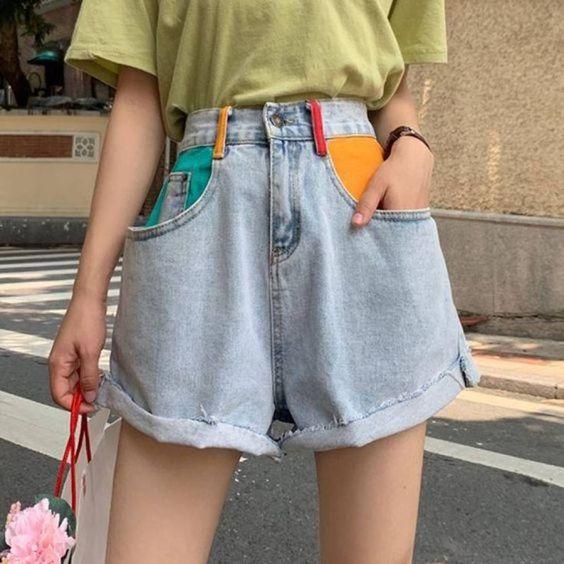 denim short for girl capsule wardrobe