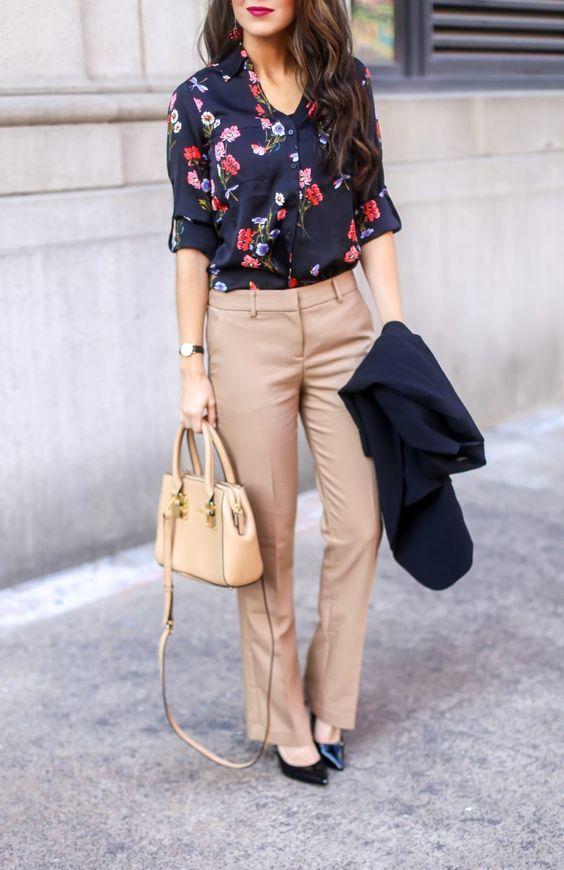 floral shirt for spring work wear