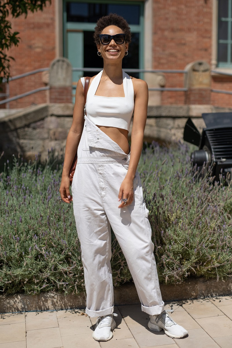 cool way styling overalls