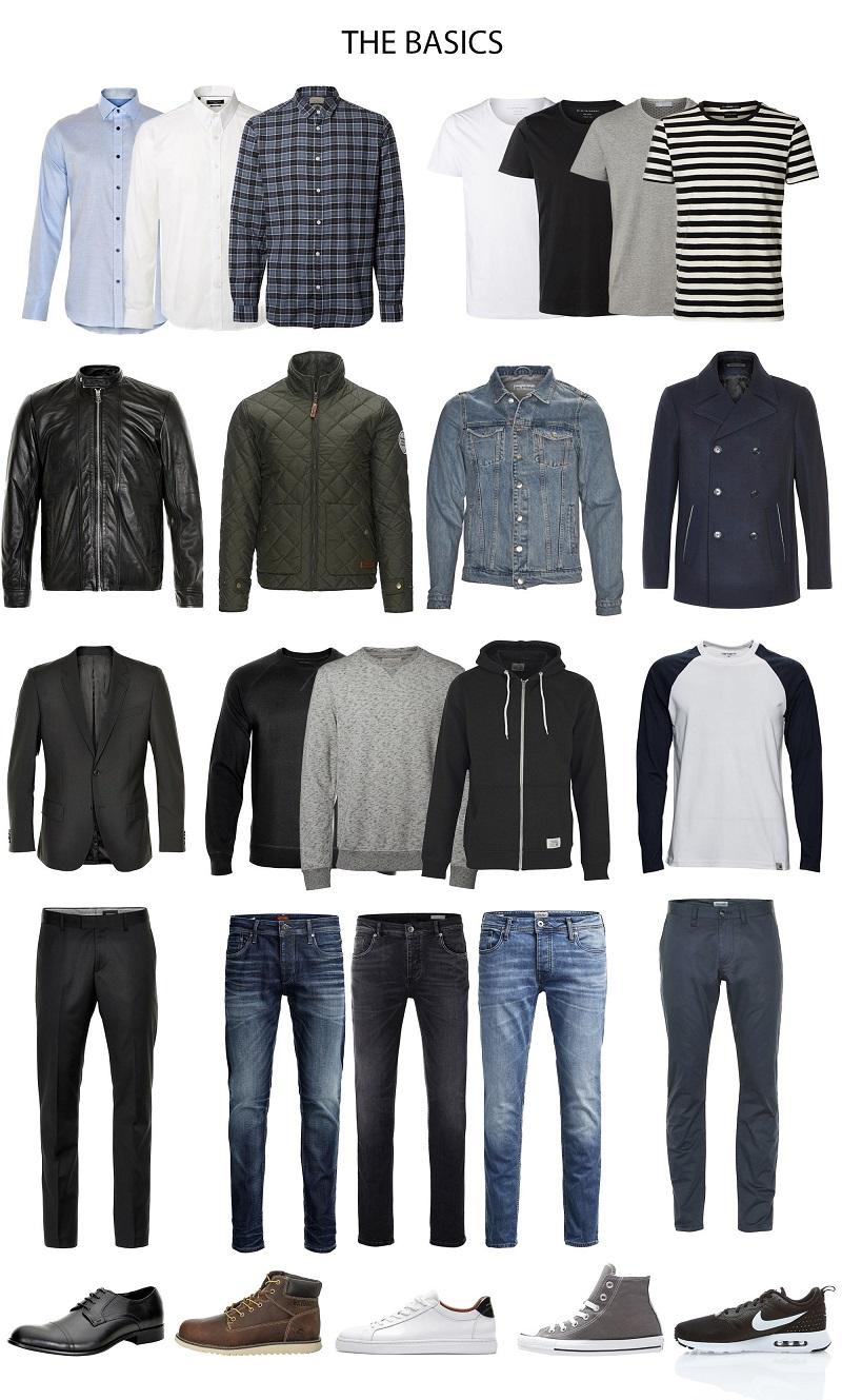 men's basic wardrobe checklist