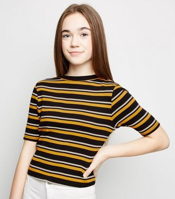 striped tee for cute girl