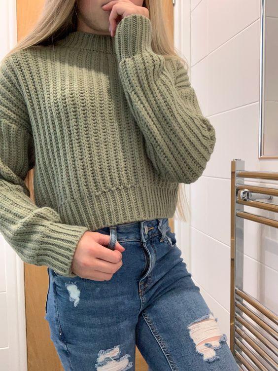 knitwear sweater for teenage girl