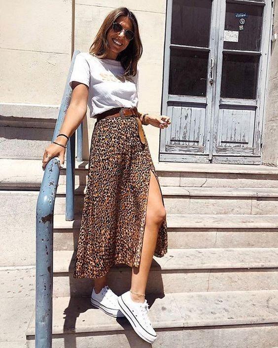 leopard maxi skirt for spring