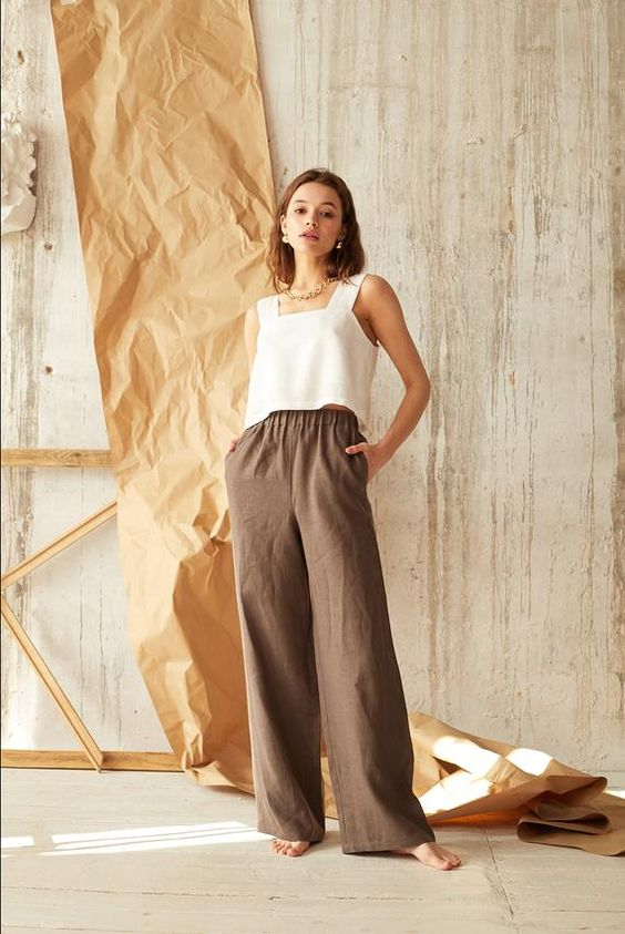 relaxed linen pants for spring