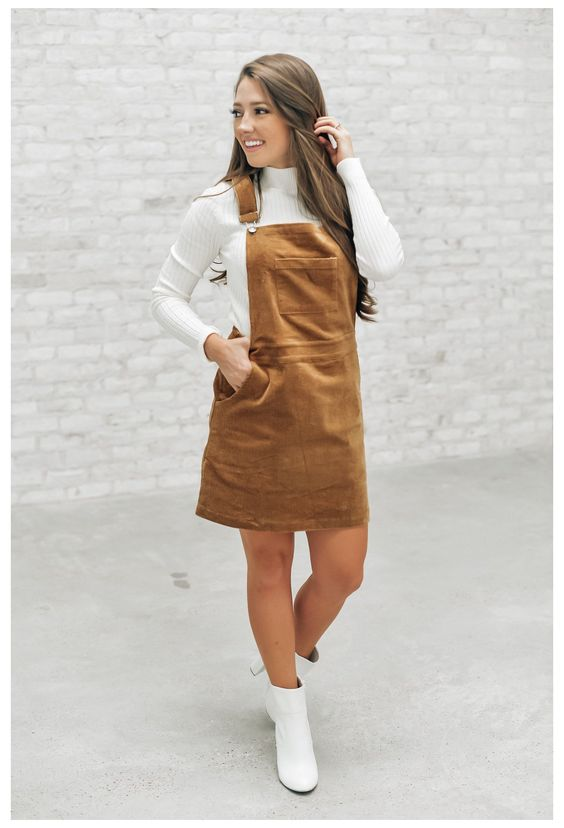 chic overall dress