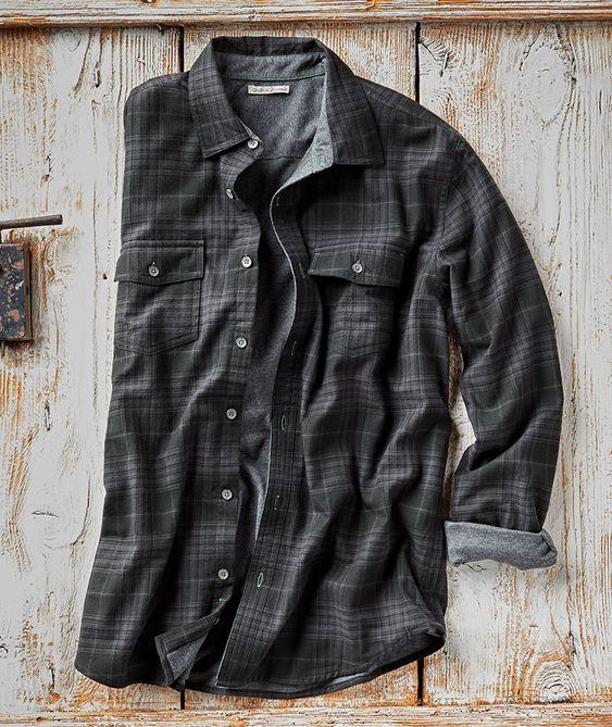 basic men's outfit item plaid shirt