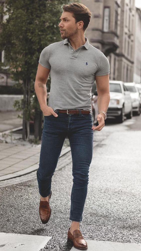 polo shirt to style men's casual look