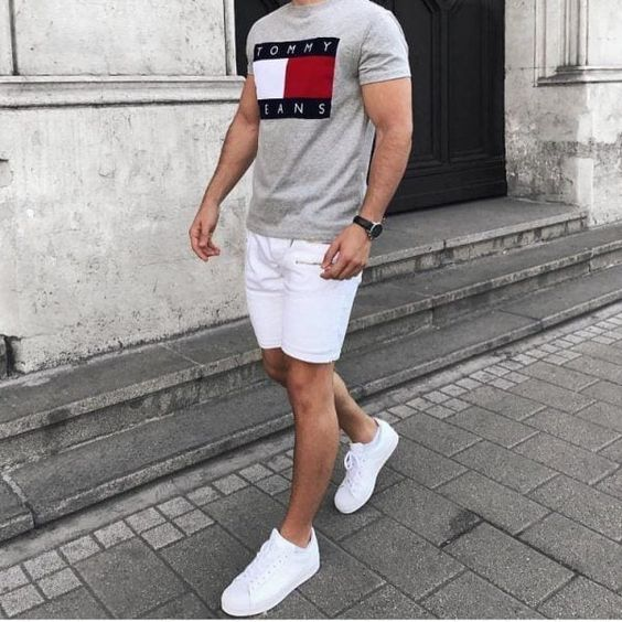 wearing sneakers for casual style